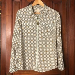 Michael Kors Chain Patterned Zip Front Top